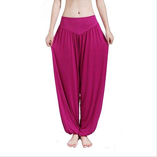 Mme coton doux sarouel Pilates yoga Sport Danse Rouge Foncé