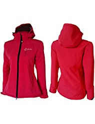Chaqueta para mujer Softshell Dry Fashion Rantum, Couleur:dunkelpink;Taille:36