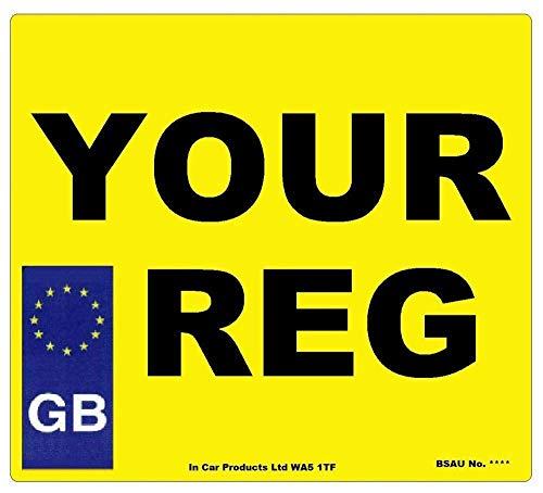 Inex Heck GB Square Tüv UK Straßen Lizenzierung Auto Wohnwagen Van Normal Registrierungsnummer Platte
