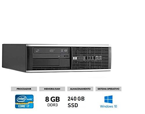 HP Elite 8300 - Ordenador de sobremesa (Intel Core i7-3770, 8GB de RAM, Disco...