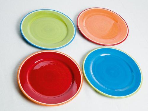 Brandani piatti piani set 4 pz colori assortiti collezione for Piatti kasanova