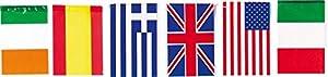 Verbetena - Bandera plástico internacional 20x30 cm, bolsa 5x10 metros (011200085)