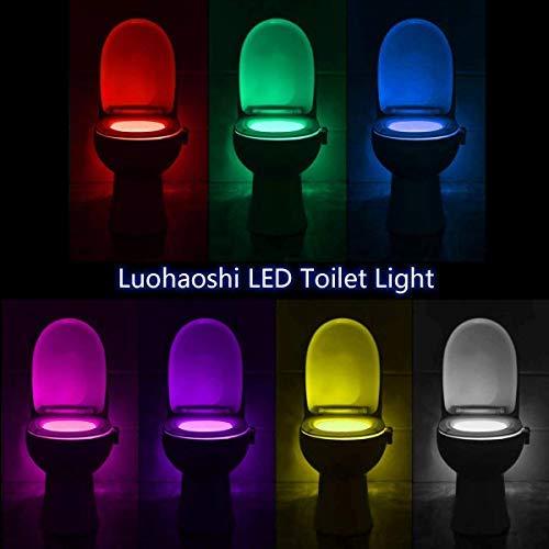 sensore di movimento attivato solo al buio Elimi luce per wc con design impermeabile IP67 luce notturna con LED e 12 colori diversi