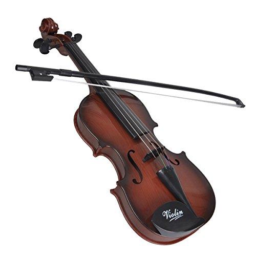 Miyare Mini Violin Mini Geigen aus Kunststoff für Kinder(Braun)