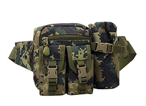 buyhere Haustierhalsband mit Utility Tactical Wandern Hüfttasche Camouflage-3