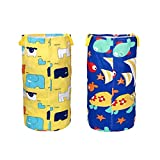 Sky-Grow Funny Sack Race Bags 2PCS Bunny Jumping Set per Giocare all' Aperto per Bambini (Animal World m e Abyssal Fish m)