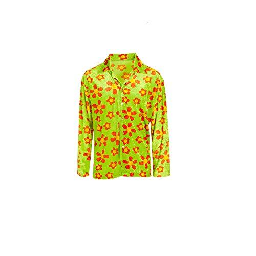 Widmann 4344E Erwachsenenkostüm Hippie Flower Shirt, 54