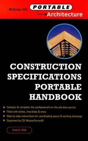 Construction Specifications Portable Handbook by Fred A. Stitt (1999-05-31)
