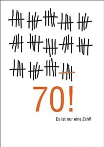 wunderbare geburtstags gl ckwunsch karte zum 70