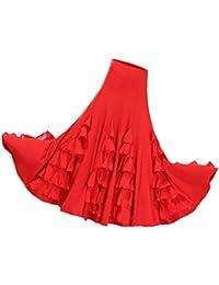 Baoblaze Jupe Danse Latine Robe Danseuse Orientale Jupon Balançoire Costume  Vêtement Femme 3c42549c11c