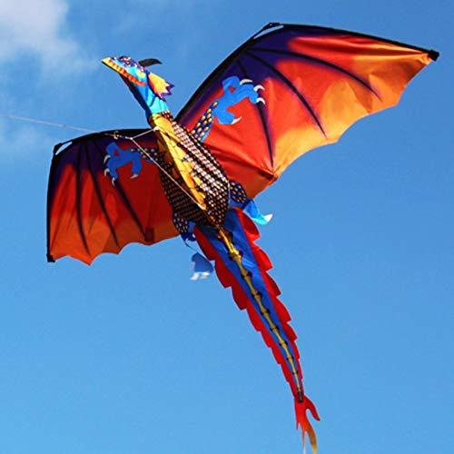 SECVBG Cometa De Dragón 3D con Cometas De Cola para Cometas Adultas Que Vuelan Al Aire Libre 100M Kite Line Al Aire Libre