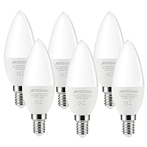 ARVIDSSON E14 LED Candle Light Bulb 6W 500LM 3000K Warmwhite,