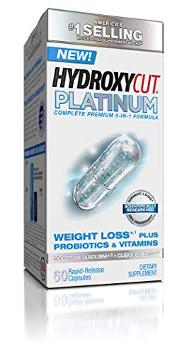 Hydroxycut Platinum Weight Loss Supplement, 60 Count