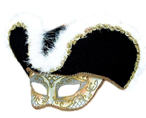 Piraten, Räuber Maske, Maskenball, Halloween, Schwarz-Gold (Räuber Halloween-maske)