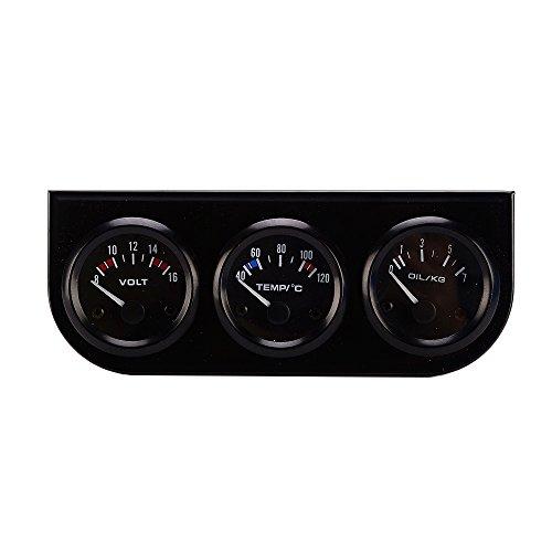 52 Mm De Calibre 3en1 Temperatura Del Agua Voltímetro Medidor De Presión De Aceite Del Coche Del Sensor De Calibre