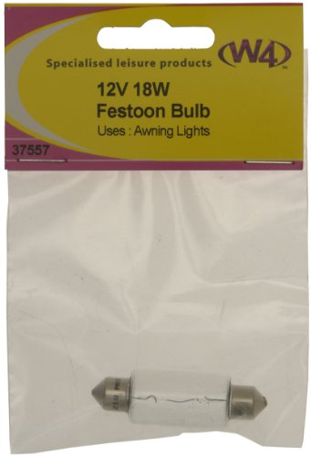 W4 Festoon Bulb 18W – Transparent