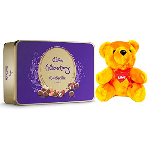 Cadbury - Valentine Gift Combo with Celebrations Rich Dry Fruit Chocolate Gift...