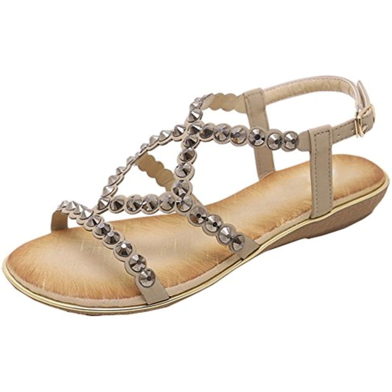 Scothen  s Femmes Confortable Tongs Bohême D'été Confortable Confortable Confortable Chaussures Plat Filles Thong T-Strap Ouvert... - B07FGG8DLS - 1a4b03