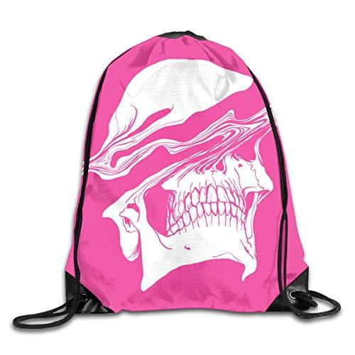 Naiyin Liquify Skull in hot pink Drawstring Bag Backpack Sackpack Shoulder Bags Gym Bag Lightweight Gym for Men and Women Hiking Swimming Yoga (Erwachsenen Store Hot Stuff)