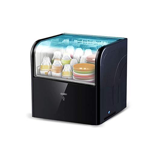 MXRqndqa Wärmegeräte Desinfektionsschüssel Zähler Typ 28L Mini Kleiner Haushalt Edelstahl vertikales Geschirr Schrank Desinfektionsschrank (Größe: 419x390x370mm) (Farbe : SCHWARZ)