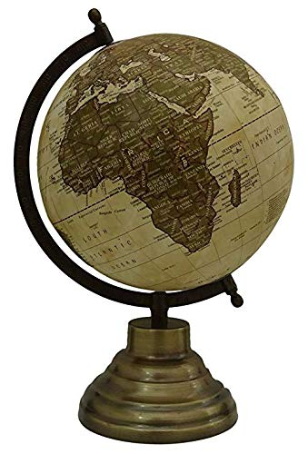 214 Home-office (Green Unique Antiique Look Decorative Geography Rotating Earth Ocean Desktop Table World Globe Home Decor By Globes Hub-Perfect for Home, Office & Classroom)