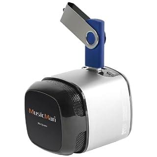 MusicMan X6 Makro Soundstation Lautsprecher (microSD-Kartenslot, 3,5mm Buchse, 3 Watt, USB) silber