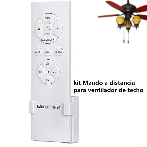 Hezbjiti Mando a Control Remoto para Ventilador de Techo, Control inalambrico y de luz, RF, WiFi, 3...