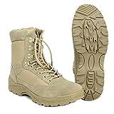 MIL-TEC Tattico BARCA CON ykk-zipper Stivali trekking-schuh avvio di escursionismo SCARPA MOUNTAIN SCARPE TEMPO LIBERO VARI DISEGNI - Cachi, 47 EU - materiale Tomaia: FELTRO