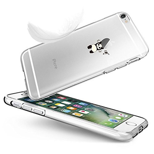 Cover Per i Phone 6 Plus Qissy®Custodia per Apple iPhone 6 plus 6S Plus 5.5  copertura del respingente trasparente Trasparente Ultra Sottile silicone del gel TPU Morbida 7