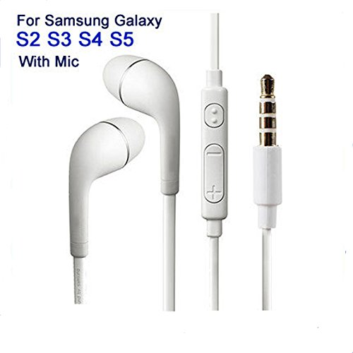 Generic Galaxy J7 / Galaxy J5 Headphones WIth Mic, Earphones, Handsfree Headset With Deep Bass And Music Equalizer (White) For Andriod devices