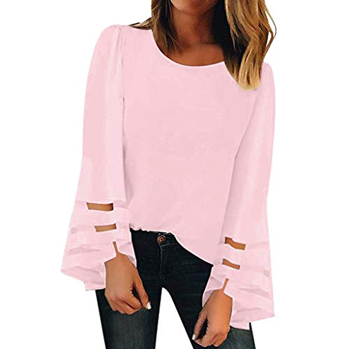 UFACE Pull Loose T-Shirt à Manches Longues Tops Femme Sweatshirt Casual Haut Chic Sexy Tee Shirt Tunique Lâche Blouse Shirts Rayure Col Rond Pullover Hauts en Vrac