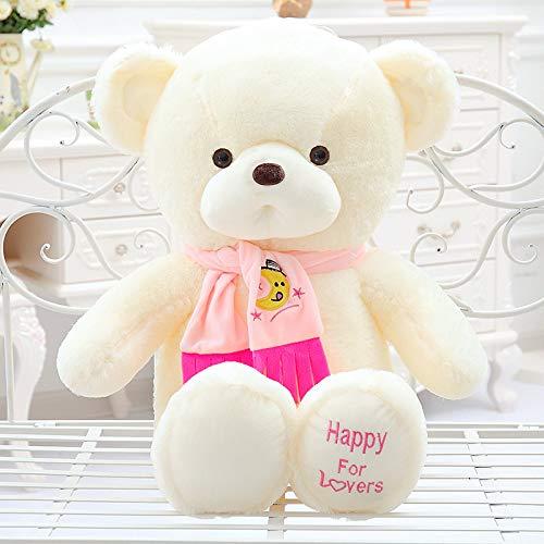 hokkk Paar Schal Bär 65cm Plüschtier Schlafkissen große Puppe Puppe Hochzeit Puppe Plüsch Teddybär Geburtstagsgeschenk 45 cm rosa -