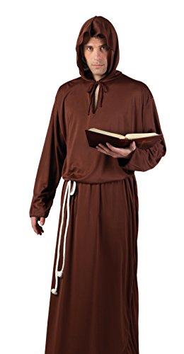 Boland 83846 - Erwachsenenkostüm Mönch, (Mönch Braunes Kostüm)