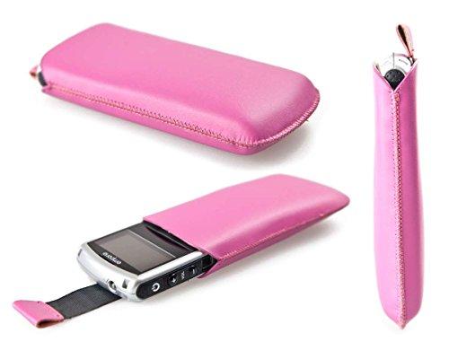 caseroxx Slide-Etui Handy-Tasche für Emporia Talk Comfort aus Kunstleder, Handy-Hülle in pink