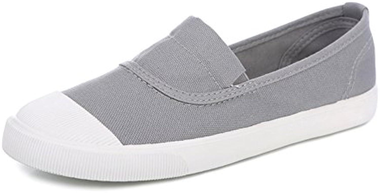 Respirable para ayudar a la gente perezosa en primavera, verano, zapatos mujer/Alpargatas de Shell-dedo del pie
