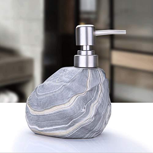 Chenweiwei Marmor Textur Seifenspender mit Pumpe Nordic Modern Style Keramik Liquid Jar 14oz Hand Seifenspender Haushaltswaren Shampoo Flasche (Color : Blue) - Kein Spülen Shampoo Liquid