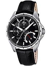 Lotus 18208/2 , Reloj de pulsera hombre, Cuero, color Negro