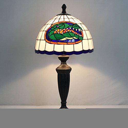 12-Zoll-NCAA Florida Gators Glasmalerei Tischlampe