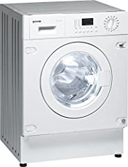 Gorenje WDI73120HK, 7/4 Kg Fully Automatic Built in washer dryer, Energy and Water Efficient, LED Display, Whi