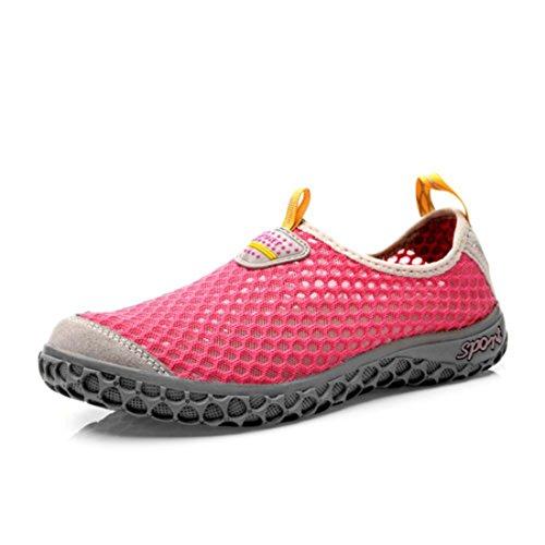 Men's Breathable Slip On Walking Shoes Rose