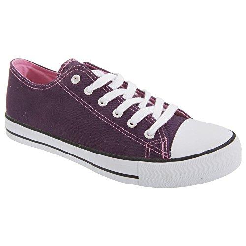 Dek Damen Turnschuhe / Sneakers / Stoff-Turnschuhe Marineblau