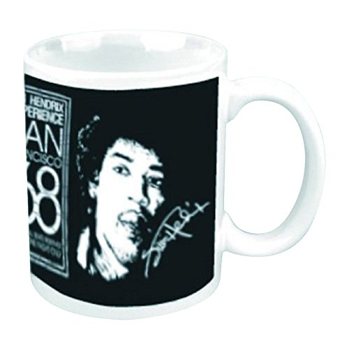 empireposter - Hendrix, Jimi - San Francisco 68 - Größe (cm), ca. Ø8,5 H9,5 - Lizenz Tassen, NEU - Jimi Hendrix Boxed Mug: San Francisco 68  - Beschreibung: - Keramik Tasse, bedruckt, Fassungsvermögen 320 ml, offiziell lizenziert, spülmaschinen- und mikrowellenfest - -