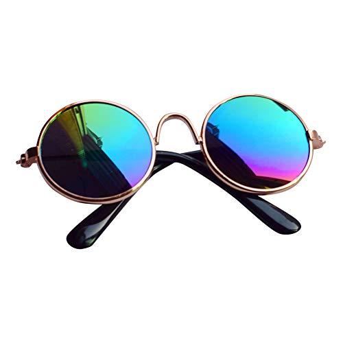 FeiyanfyQ Fashion Sonnenbrille für Haustiere, Welpen, Katzen, Sonnenbrille, Fotorequisiten, Gelb