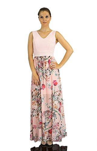 820d7778c2b1 Abendkleid Chiffonkleid lang Flowers Maxikleid Kleid Hippie Empire ...