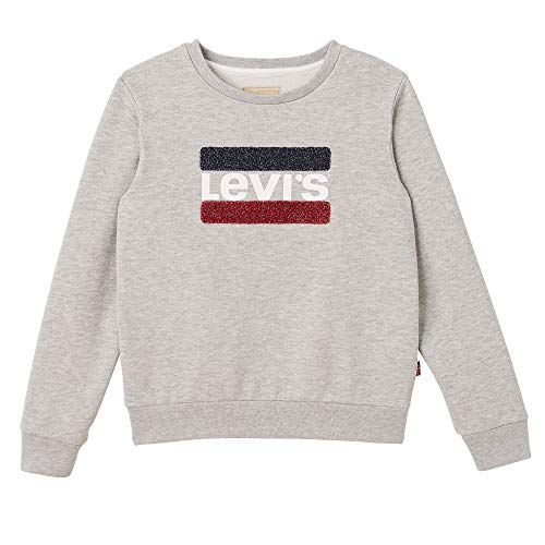 Levi's Kids NN15527 Sweat Shirt,Fille, Gris (Light China Grey 22), 14 ans (Taille fabricant:14Y)