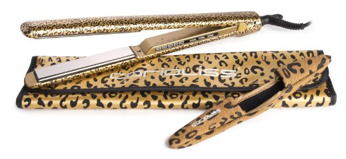 Corioliss C3 Gold Leopard Hair Straightener - Ultimate Titanium Styling Iron