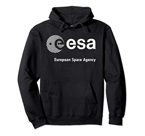 ESA Shirt, European Space Agency Schrift Fingerprint Logo Pullover Hoodie