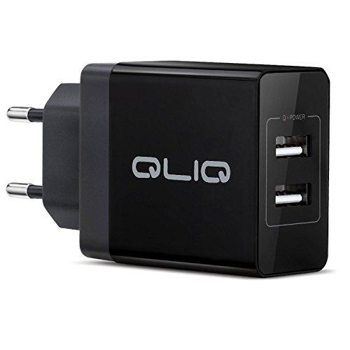USB Ladegerät, 2-Port Wall Charger, Quick Charge Wand Ladeadapter, Wandladegerät für Samsung Galaxy S7/S8, iPhone 6/7/8/X, iPad und Viele Weitere Geräte