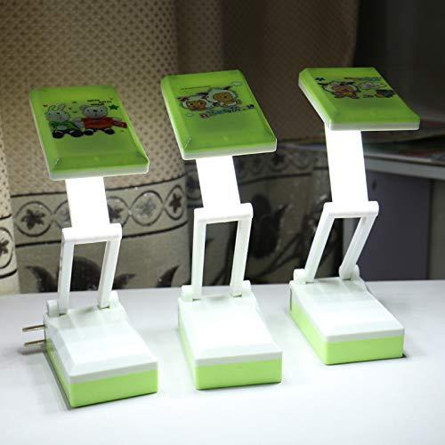 Faltendes mini super helles Karikaturaugenlampen-Einsteckstudentenwohnheimdesktopleseschreiben energiesparendes kleines Tischlampengrün-Mischhaar