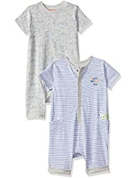Mothercare Baby Boys' Regular Fit Cotton Romper Suit (Pack of 2)